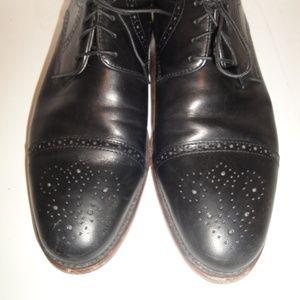 Johnston & Murphy Black Leather Oxford